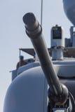 Γερμανικό πυροβόλο ναυτικών στη βάρκα Στοκ Εικόνες
