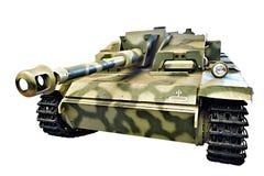 Γερμανικό πυροβόλο όπλο SD επιθέσεων Kfz 142 StuG ΙΙΙ StuG 40 Ausf Φ που απομονώνεται Στοκ φωτογραφία με δικαίωμα ελεύθερης χρήσης