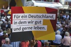 Γερμανικό σημάδι της Angela κομμάτων cdu merkel Στοκ φωτογραφία με δικαίωμα ελεύθερης χρήσης