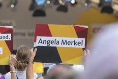 Γερμανικό σημάδι της Angela κομμάτων cdu merkel Στοκ εικόνες με δικαίωμα ελεύθερης χρήσης