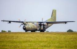 γερμανικό στρατιωτικό αεροπλάνο μεταφοράς εμπορευμάτων, transall γ-160 Στοκ Εικόνες