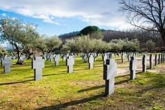 Γερμανικό στρατιωτικό νεκροταφείο Στοκ φωτογραφία με δικαίωμα ελεύθερης χρήσης