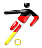 Γερμανικό σύμβολο ποδοσφαίρου Στοκ Εικόνα