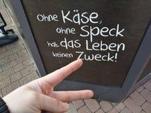 Γερμανικό σύνθημα Στοκ Φωτογραφίες