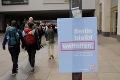 Γερμανικό τοπικό elections_make Βερολίνο ισχυρότερο Στοκ εικόνες με δικαίωμα ελεύθερης χρήσης
