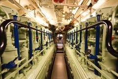 Γερμανικό υποβρύχιο - διαμέρισμα μηχανών Στοκ Εικόνα