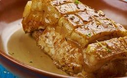 Γερμανικό ψητό χοιρινού κρέατος Schweinebraten Στοκ φωτογραφία με δικαίωμα ελεύθερης χρήσης