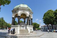 Γερμανικό Fauntain στην πλατεία Sultanahmet, Ιστανμπούλ, Τουρκία στοκ φωτογραφία