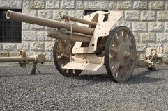 γερμανικό howitzer πεδίων Στοκ Εικόνες