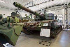 Γερμανικό Leopard 2 Α 4 ` δεξαμενών ` - η κύρια δεξαμενή μάχης του φινλανδικού στρατού Στοκ εικόνα με δικαίωμα ελεύθερης χρήσης