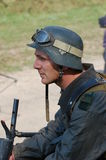 γερμανικό thrower στρατιωτών φλ&omic Στοκ φωτογραφία με δικαίωμα ελεύθερης χρήσης
