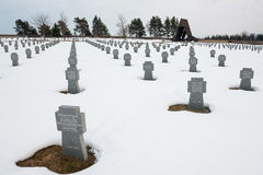 Γερμανικό WWII στρατιωτικό νεκροταφείο σε Vazec, Σλοβακία Στοκ φωτογραφία με δικαίωμα ελεύθερης χρήσης