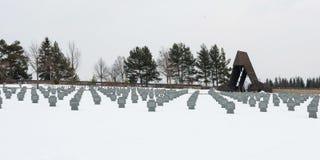 Γερμανικό WWII στρατιωτικό νεκροταφείο σε Vazec, Σλοβακία Στοκ Εικόνα