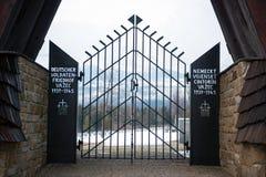Γερμανικό WWII στρατιωτικό νεκροταφείο σε Vazec, Σλοβακία Στοκ εικόνα με δικαίωμα ελεύθερης χρήσης
