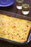 Γερμανικό Zwiebelkuchen (κέικ κρεμμυδιών) Στοκ εικόνες με δικαίωμα ελεύθερης χρήσης
