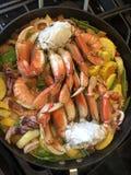 Γευματίζων θαλασσινών στο στάδιο της παραγωγής Στοκ Εικόνες