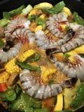 Γευματίζων θαλασσινών στο στάδιο της παραγωγής Στοκ εικόνα με δικαίωμα ελεύθερης χρήσης