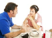 γευματίζων συνομιλίας στοκ εικόνες με δικαίωμα ελεύθερης χρήσης