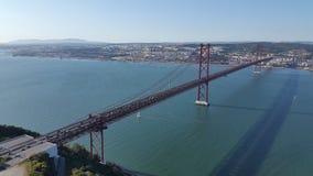 γεφυρώστε τη Λισσαβώνα Στοκ Φωτογραφίες