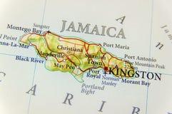 Γεωγραφικός χάρτης της χώρας Τζαμάικα στενός Στοκ εικόνα με δικαίωμα ελεύθερης χρήσης