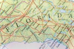 Γεωγραφικός χάρτης του αμερικανικού κράτους Φλώριδα στενή Στοκ φωτογραφίες με δικαίωμα ελεύθερης χρήσης