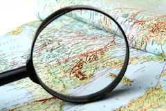 Γεωγραφικός χάρτης Στοκ εικόνες με δικαίωμα ελεύθερης χρήσης