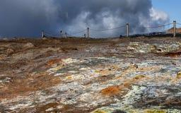 Γεωθερμικά ενεργός κοιλάδα Στοκ εικόνα με δικαίωμα ελεύθερης χρήσης