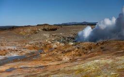 Γεωθερμικά ενεργός κοιλάδα Στοκ εικόνες με δικαίωμα ελεύθερης χρήσης
