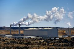 Γεωθερμικά ενεργό έδαφος Στοκ φωτογραφίες με δικαίωμα ελεύθερης χρήσης