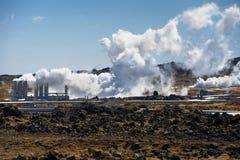 Γεωθερμικά ενεργό έδαφος Στοκ Φωτογραφίες