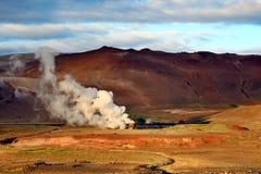 Γεωθερμικές εγκαταστάσεις παραγωγής ενέργειας στην Ισλανδία Στοκ Φωτογραφίες