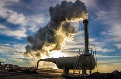 Γεωθερμική γεώτρηση Στοκ Εικόνες
