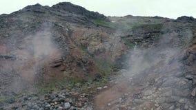 Γεωθερμική ηφαιστειακή δραστηριότητα ηφαιστείων απόθεμα βίντεο