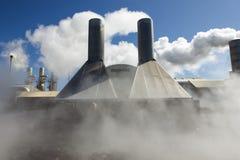 γεωθερμική ισχύς φυτών Στοκ Φωτογραφίες