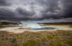 Γεωθερμική περιοχή Στοκ Φωτογραφίες