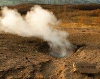 Γεωθερμική περιοχή geysir στην Ισλανδία Στοκ εικόνα με δικαίωμα ελεύθερης χρήσης