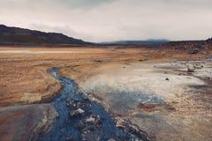 Γεωθερμική περιοχή Hverir στην Ισλανδία Στοκ εικόνα με δικαίωμα ελεύθερης χρήσης