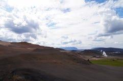 Γεωθερμικός σταθμός παραγωγής ηλεκτρικού ρεύματος κοντά στη λίμνη Myvatn, Ισλανδία Στοκ φωτογραφίες με δικαίωμα ελεύθερης χρήσης
