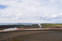 Γεωθερμικός σταθμός παραγωγής ηλεκτρικού ρεύματος κοντά στη λίμνη Myvatn, Ισλανδία Στοκ φωτογραφία με δικαίωμα ελεύθερης χρήσης