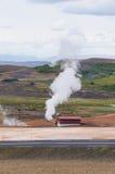 Γεωθερμικός σταθμός παραγωγής ηλεκτρικού ρεύματος κοντά στη λίμνη Myvatn, Ισλανδία Στοκ Εικόνες