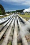 Γεωθερμικός σταθμός παραγωγής ηλεκτρικού ρεύματος κοντά στο γεωθερμικό τομέα Wairakei στη Νέα Ζηλανδία Στοκ φωτογραφία με δικαίωμα ελεύθερης χρήσης