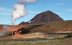 Γεωθερμικός σταθμός παραγωγής ηλεκτρικού ρεύματος - τυρκουάζ λίμνη, Ισλανδία Στοκ εικόνες με δικαίωμα ελεύθερης χρήσης