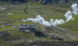 Γεωθερμικός σταθμός παραγωγής ηλεκτρικού ρεύματος Nesjavellir, Ισλανδία Στοκ φωτογραφία με δικαίωμα ελεύθερης χρήσης