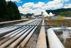 γεωθερμικός σταθμός παρ&al Στοκ εικόνα με δικαίωμα ελεύθερης χρήσης