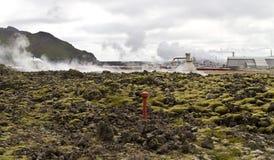 γεωθερμικός σταθμός παρ&al Στοκ φωτογραφία με δικαίωμα ελεύθερης χρήσης