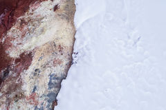 Γεωθερμικό αφηρημένο τοπίο Στοκ Φωτογραφίες
