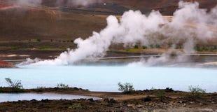 Γεωθερμικό ζεστό νερό άνοιξη κοντά σε Myvatn Στοκ Φωτογραφίες