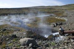 γεωθερμικό ζεστό νερό Στοκ εικόνες με δικαίωμα ελεύθερης χρήσης