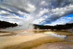 γεωθερμικό τοπίο Νέα Ζηλ&alpha Στοκ εικόνες με δικαίωμα ελεύθερης χρήσης
