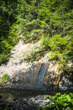 Γεωλογικά στρώματα στην όχθη ποταμού Στοκ φωτογραφία με δικαίωμα ελεύθερης χρήσης